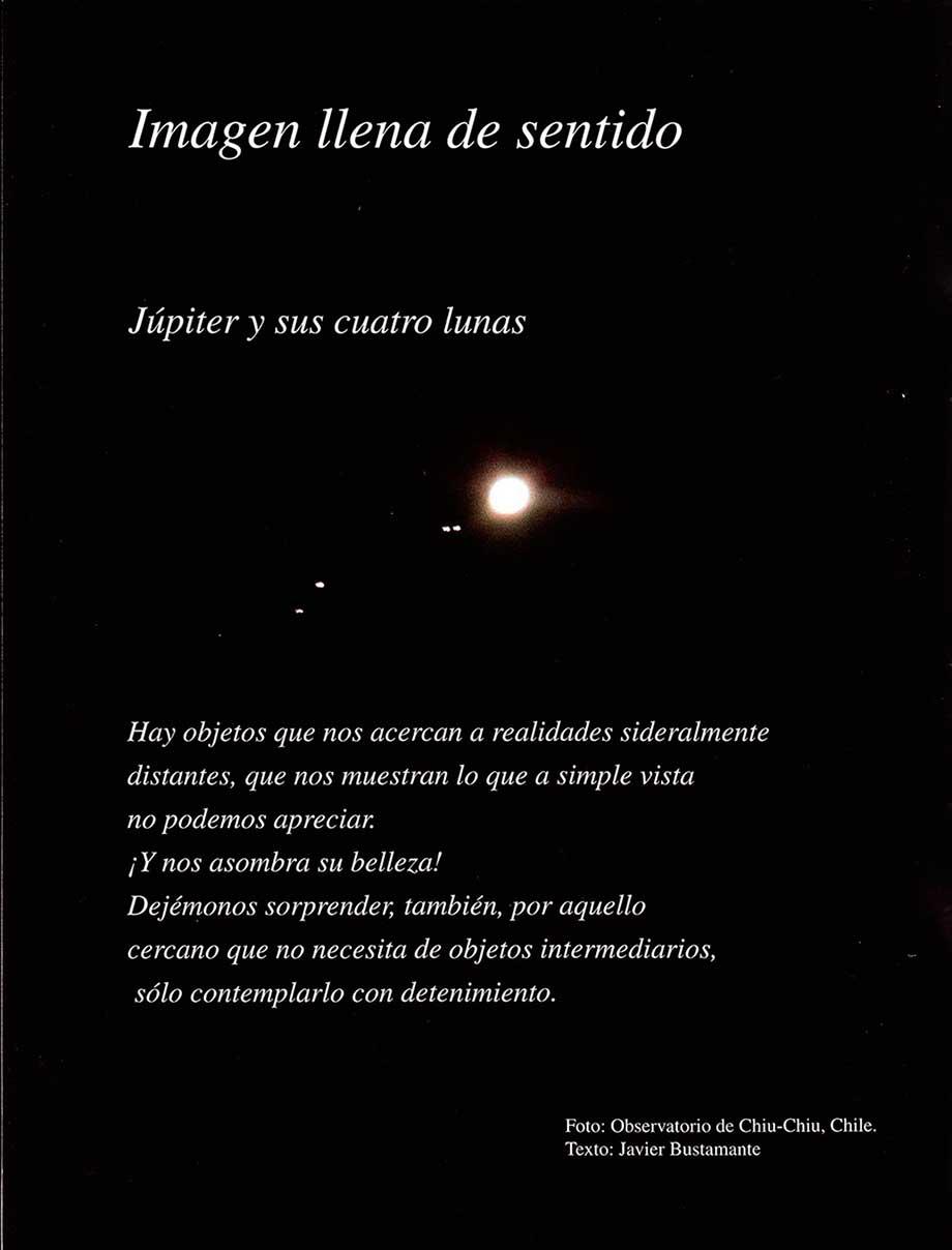 Júpiter y sus cuatro lunas
